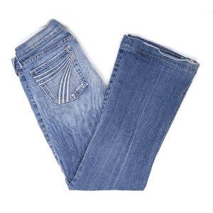 7 For All Mankind Dojo flare medium wash jeans, 28